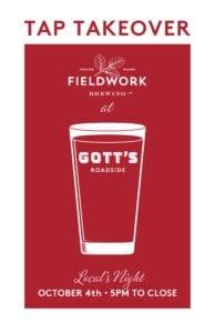 Fieldwork Brewing Co. Tap Takeover @ Gott's Roadside